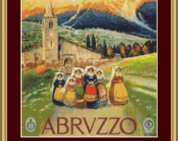 Abrvzzo Cross Stitch Pattern /Digital PDF Files /Instant downloadable