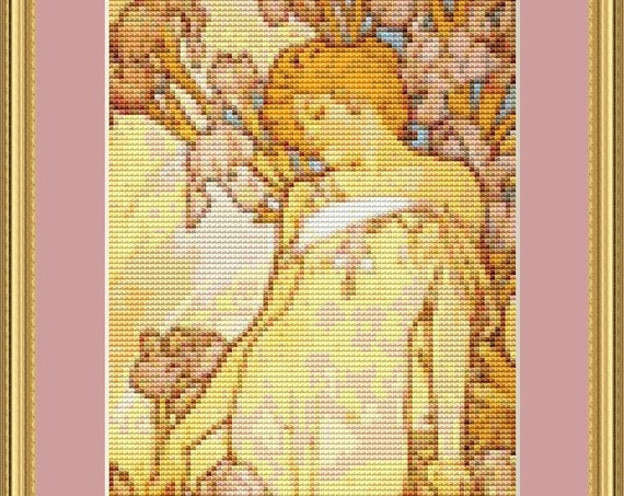 Iris Cross Stitch Pattern /Digital PDF Files /Instant downloadable