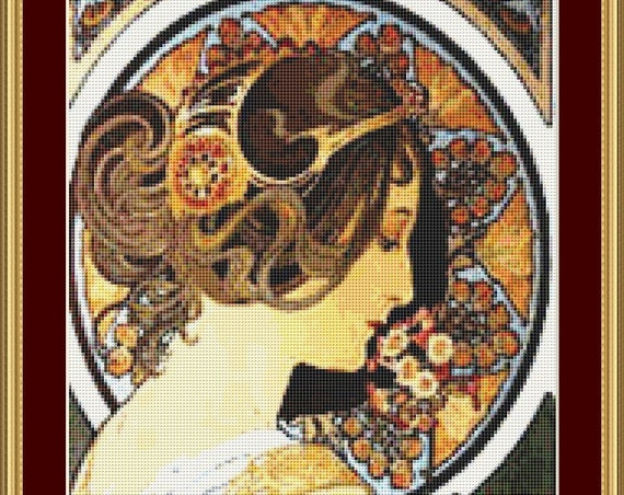 La Primavere Cross Stitch Pattern /Digital PDF Files /Instant downloadable
