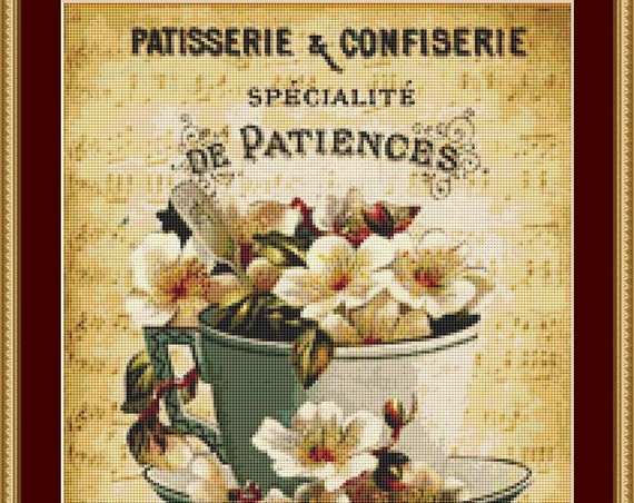 French Sign Cross Stitch Pattern /Digital PDF Files /Instant downloadable