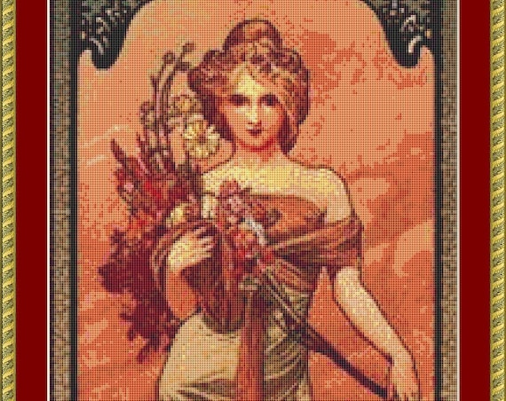 Printemps Cross Stitch Pattern /Digital PDF Files /Instant downloadable
