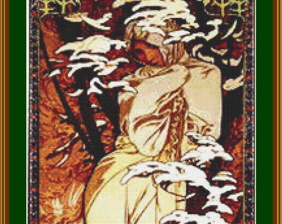 Hiver Cross Stitch Pattern /Digital PDF Files /Instant downloadable
