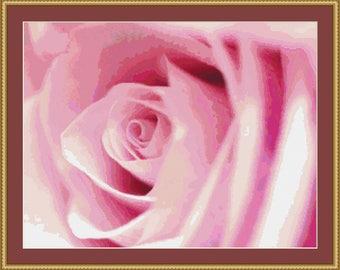the soul of the rose cross stitch pattern digital pdf files etsy