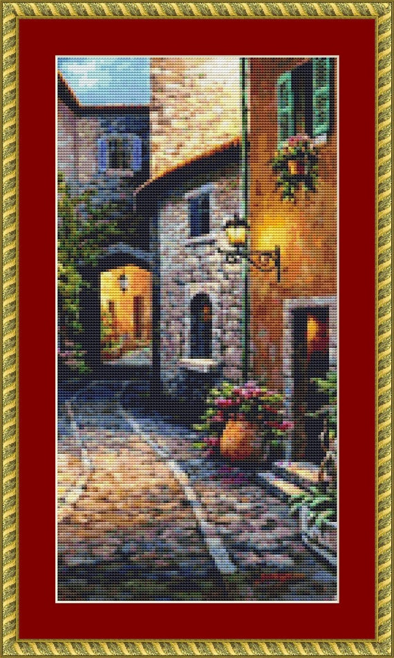 Stone Arch Cross Stitch Pattern - Instant Download, Digital Pattern