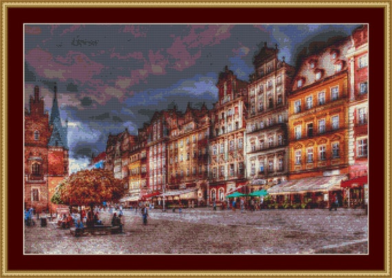 Wroclaw Centre Cross Stitch /Digital PDF Files /Instant downloadable