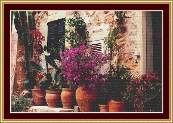 Tuscany Beauty Cross Stitch Pattern /Digital PDF Files /Instant downloadable