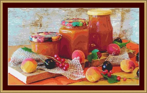 Apricot Jam Cross Stitch Pattern /Digital PDF Files /Instant downloadable