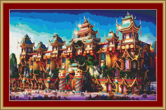 China Town Cross Stitch Pattern /Digital PDF Files /Instant downloadable