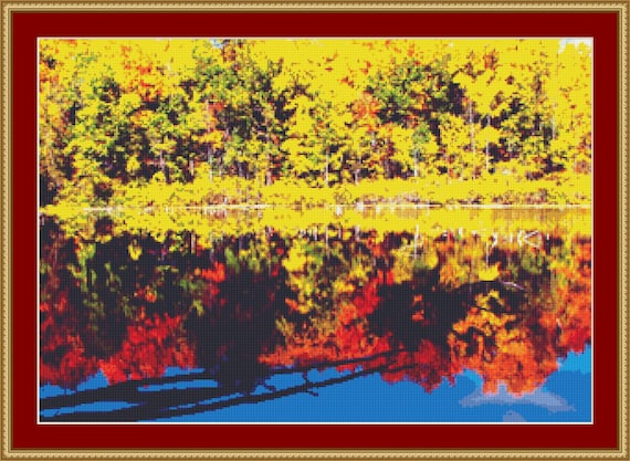 Fall Colours Cross Stitch Pattern /Digital PDF Files /Instant downloadable