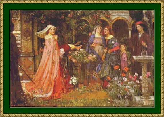 The Enchanted Garden Cross Stitch Pattern /Digital PDF Files /Instant downloadable