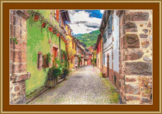Kaysersberg Street II Cross Stitch Pattern /Digital PDF Files /Instant downloadable