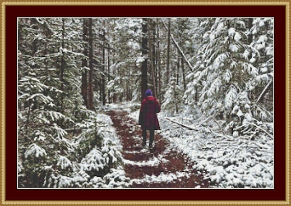 A Winter Walk Cross Stitch Pattern /Digital PDF Files /Instant downloadable