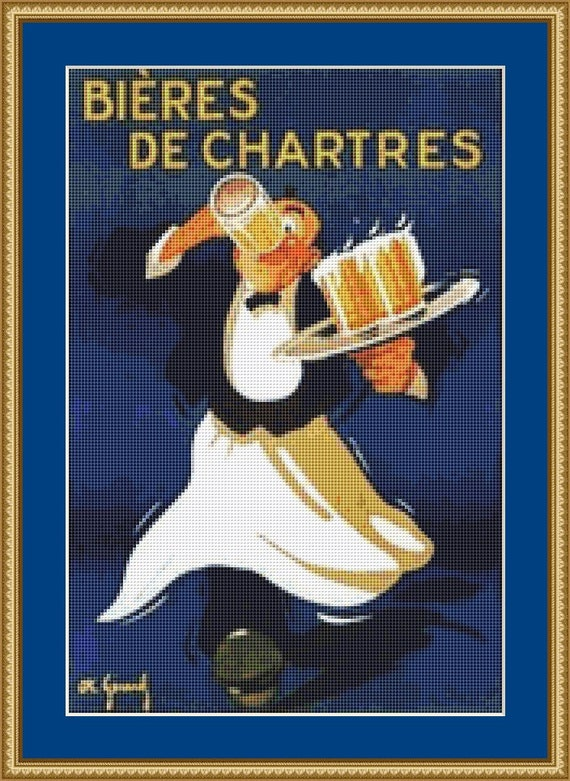 Bieres De Chartres Cross Stitch Pattern /Digital PDF Files /Instant downloadable