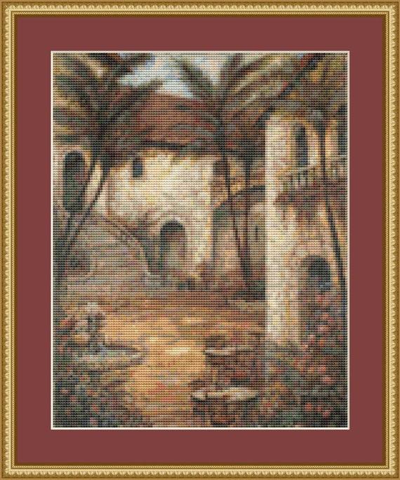 Romantic Shadows Cross Stitch Pattern /Digital PDF Files /Instant downloadable