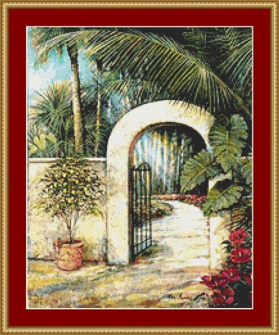 Tranquil Garden II Cross Stich Pattern /Digital PDF Files /Instant downloadable