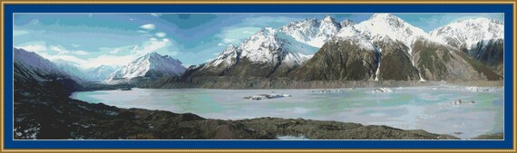New Zealand Panorama Cross Stitch Pattern /Digital PDF Files /Instant downloadable