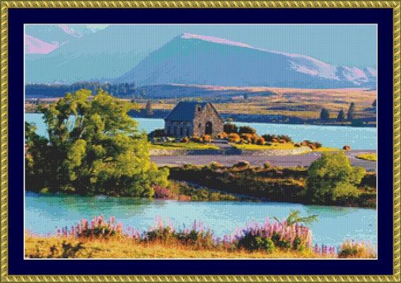 Lake Tekapo Cross Stitch Pattern /Digital PDF Files /Instant downloadable