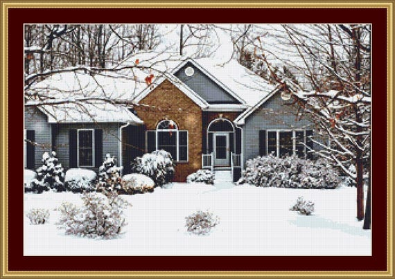Snowed In Cross Stitch Pattern /Digital PDF Files /Instant downloadable