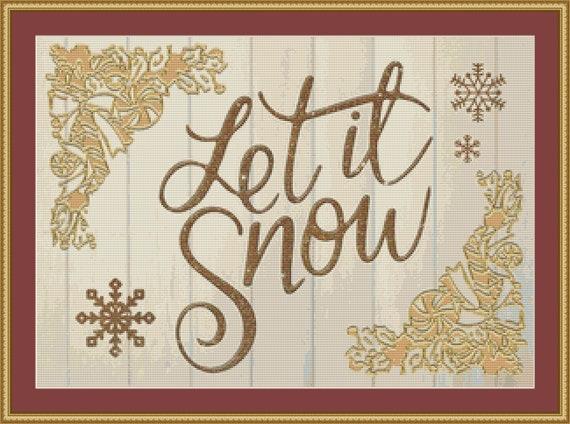 Let It Snow Cross Stitch Pattern - Digital Pattern / Instant Download