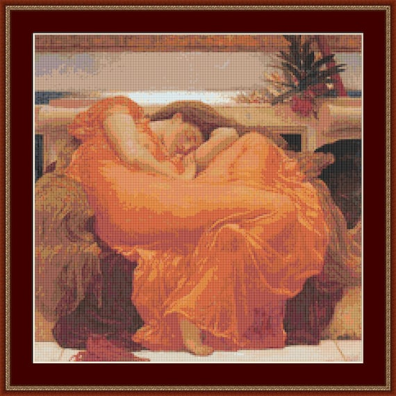 Flaming June Cross Stitch Pattern /Digital PDF Files /Instant downloadable