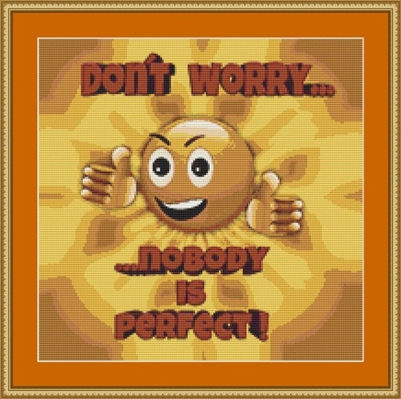 Don't Worry Cross Stitch Pattern /Digital PDF Files /Instant downloadable