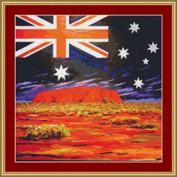 Australia Cross Stitch Pattern /Digital PDF Files /Instant downloadable