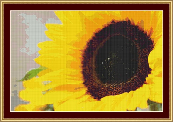 Fresh Sunflower Cross Stitch Pattern /Digital PDF Files /Instant downloadable