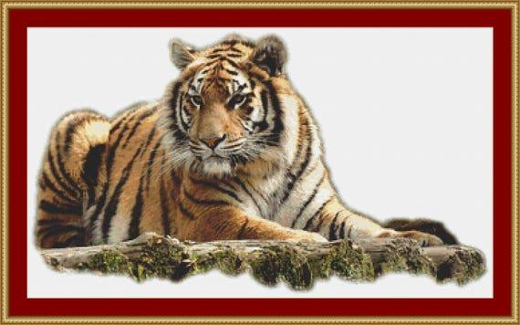 Bengal Tiger Cross Stitch Pattern /Digital PDF Files /Instant downloadable