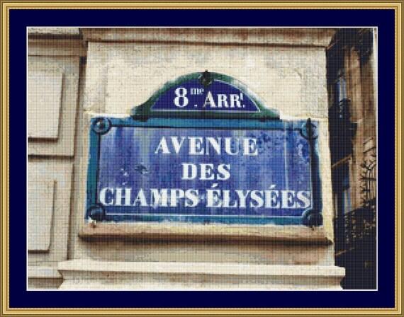 Champs Elysees Cross Stitch Pattern /Digital PDF Files /Instant downloadable