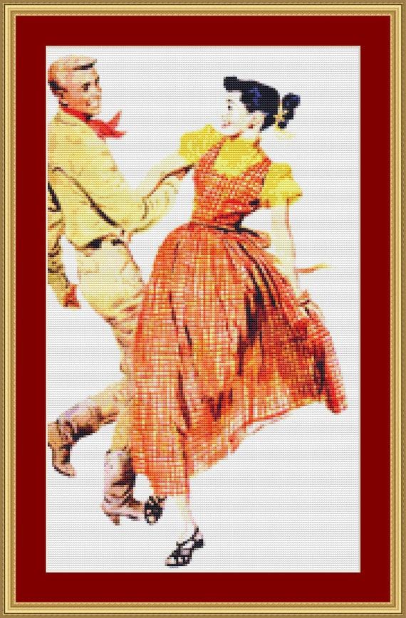 Barn Dance Cross Stitch Pattern /Digital PDF Files /Instant downloadable