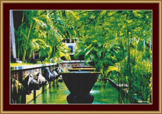 Serenity In Bali Cross Stitch Pattern /Digital PDF Files /Instant downloadable