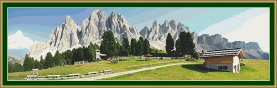 The Dolomites Cross Stitch Pattern /Digital PDF Files /Instant downloadable