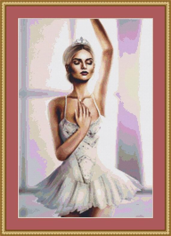 Ballet Cross Stitch Pattern /Digital PDF Files /Instant downloadable