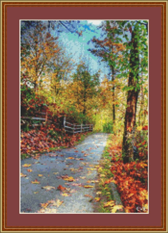 Nature Trail Cross Stitch Pattern /Digital PDF Files /Instant downloadable