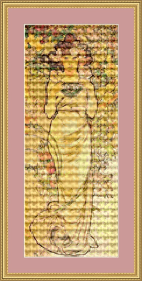 Rose Cross Stitch Pattern /Digital PDF Files /Instant downloadable