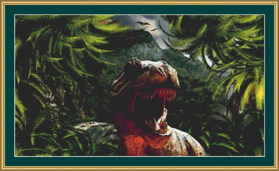 Tyrannosaurus Rex Cross Stitch Pattern - Digital Download