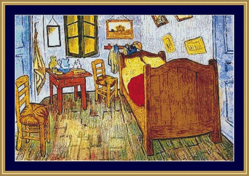 La Chambre De Van Gogh Cross Stitch Pattern Digital Pdf Files Etsy
