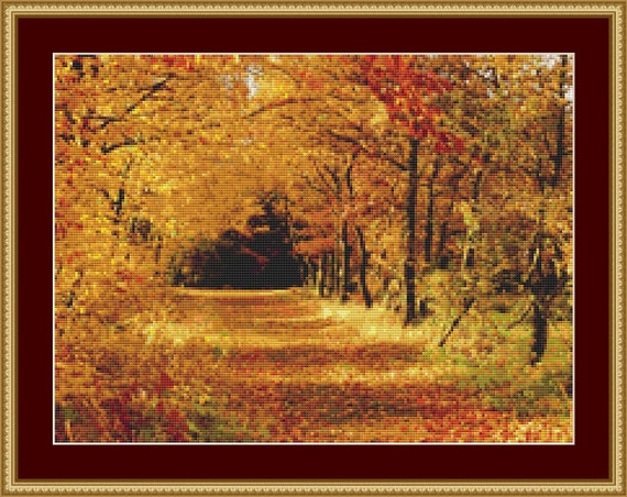 Autumn Cross Stitch Pattern /Digital PDF Files /Instant downloadable