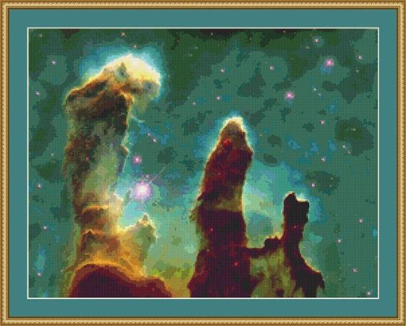 Eagle Nebula Cross Stitch Pattern /Digital PDF Files /Instant downloadable