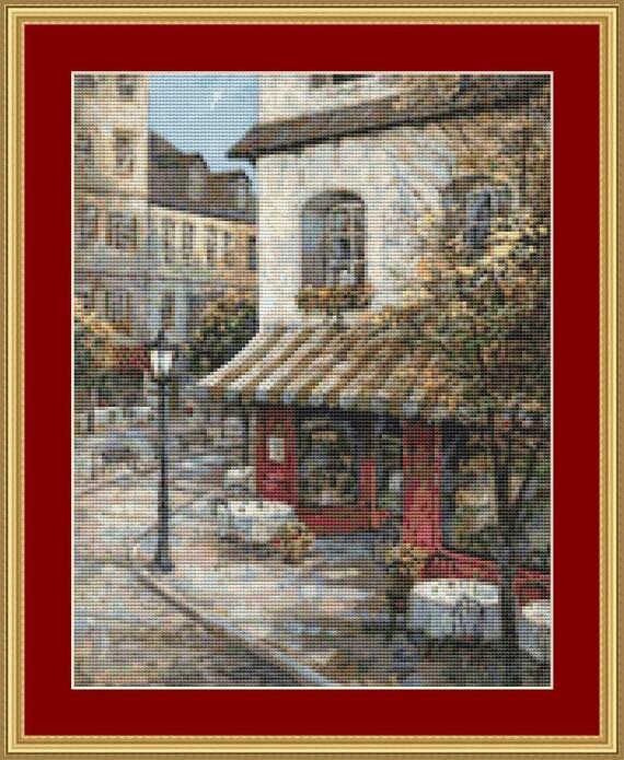 My Favorite Cafe Cross Stitch Pattern /Digital PDF Files /Instant downloadable