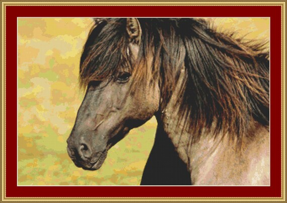 Horse Cross Stitch Pattern /Digital PDF Files /Instant downloadable
