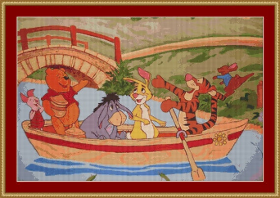 Winnie The Pooh Cross Stitch Pattern /Digital PDF Files /Instant downloadable