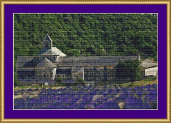 Lavender Fields Cross Stitch Pattern /Digital PDF Files /Instant downloadable