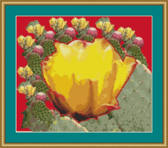 Cactus Cross Stitch Pattern /Digital PDF Files /Instant downloadable
