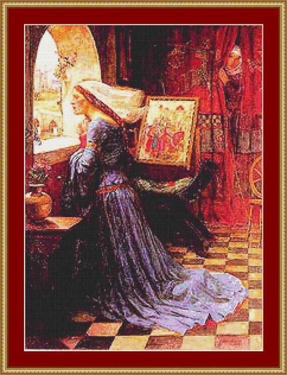 Fair Rosamund Cross Stitch Pattern /Digital PDF Files /Instant downloadable