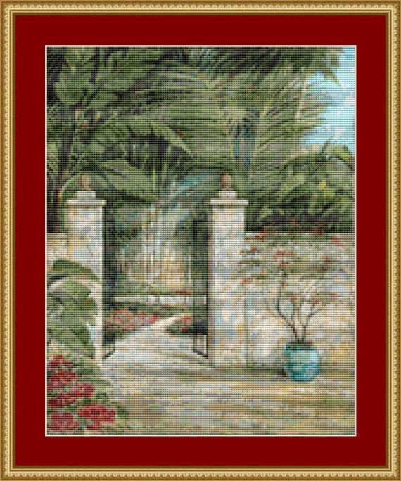 Tranquil Garden I Cross Stitch Pattern /Digital PDF Files /Instant downloadable