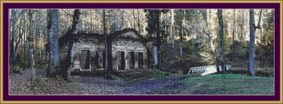 Ruins In The Forest Cross Stitch Pattern /Digital PDF Files /Instant downloadable