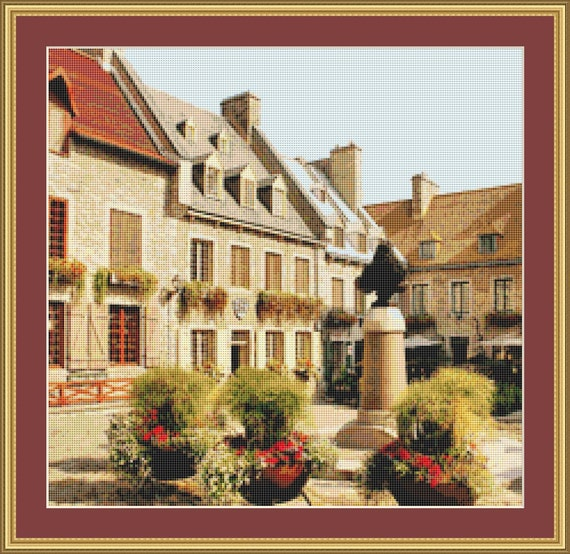 Town Square Cross Stitch Pattern /Digital PDF Files /Instant downloadable