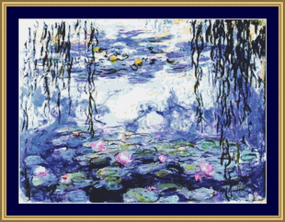 Water Lilies Cross Stitch Pattern /Digital PDF Files /Instant downloadable