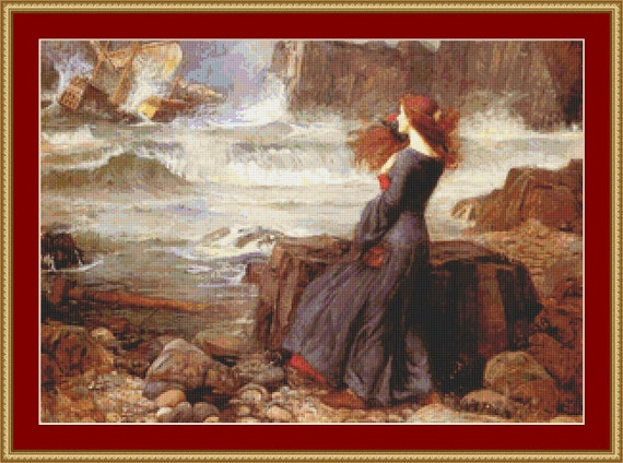Miranda In The Tempest Cross Stitch Pattern /Digital PDF Files /Instant downloadable